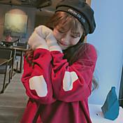 caída signo y la versión de invierno de Corea del dulce amor jacquard párrafo corto que basa la camisa floja del suéter del suéter