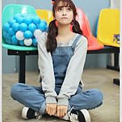 firmar 2017 nueva versión coreana era delgada yardas grandes monos de bolsillo de la personalidad del estudiante tirantes viento de la