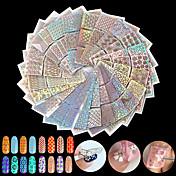 24pcs Nail Art samolepka Diecut Manikúra šablony make-up Kosmetické Nail Art design