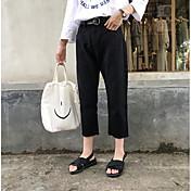 2017新しい9小さな黒と白のワイドレッグパンツ緩いジーンズ女性のフラッシュを購入する符号韓国