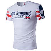 Majica s rukavima Muške,Jednostavno Aktivan Ležerno/za svaki dan Sportske Plus veličine Color block Slovo-Kratkih rukava Okrugli izrez-