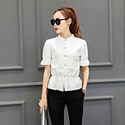 firmar afluencia de nueva primavera 2017 las mujeres&# 39; s del cordón de la blusa pequeña camisa del cordón femenino de manga larga