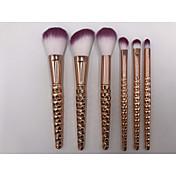 6 Sistemas de cepillo Cepillo para Colorete Pincel para Sombra de Ojos Cepillo Corrector Cepillo para Polvos Otros Pinceles Contour Brush