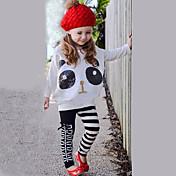 Dívka je Proužky Celoročně Sady oblečení Směs bavlny