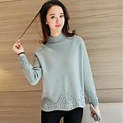 記号#4408冬の新しい襟袖口裾ビーズニットセーターのヘッジ