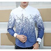 Camisa de manga larga de Corea del hombre delgado sección delgada de modelos jóvenes hombres caída&# 39; camisa s camisa casual de