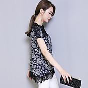 Firmar 2017 verano nuevas mujeres de gran tamaño&# 39; s versión coreana era delgada de manga corta camisa de impresión retro camisa