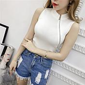 2017スリム韓国本物のショットニットベストのジッパーが薄いシャツでした