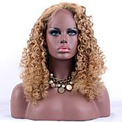 女性 人毛レースウィッグ レミーヘアー フロントレース グルテンフリーレースフロント 130% 密度 Kinky Curly かつら ストロベリーブロンド ショート丈 ミディアム丈 ロング丈 黒人女性用 100%手作業縫い付け ナチュラルヘアライン