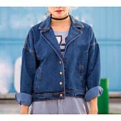 新しい冬のスーツの襟短い段落のBF風デニムジャケット女性の潮の韓国語バージョンに署名