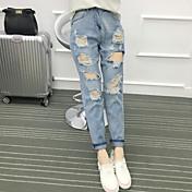 firmar punto resorte y el verano coreano bf nueve agujeros en los pantalones vaqueros mujer fue harem de mujeres delgadas flojas cruzadas