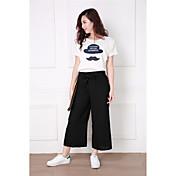 写真:2017春と夏の新しい韓国のファッションシンプルなワイドレッグパンツ9ポイントが薄い女性の緩いカジュアルパンツでした