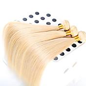 3個/ロット100%未処理の最高品質のヨーロッパ人の髪ストレートヘア波状、トップグレードのバージン色613#ヘアエクステンション