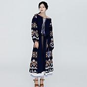 サインファッション国家風刺繍ドレスジュン