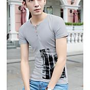 夏の男性に署名' sの新しいハーフ長袖男性' sのファッションの綿半袖Tシャツ底入れシャツ