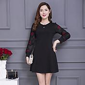 スカートを底新しいレトロな気質スリム長袖のラインのドレスの韓国語バージョンの符号春のドレスの長いセクション