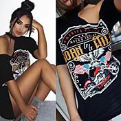 Amazon ebay aliexpress suministro águila motocicleta camiseta halter impresión vestido sin tirantes