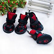 Gatos Perros Zapatos y Botas Adorable Casual/Diario Deportes Clásico Boda Cumpleaños Moda Reversible Británico Rojo Rosa Cuero PU