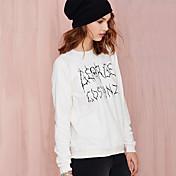 面白いヨーロッパとアメリカのファッションレジャーファンの手紙は、緩い長袖ラウンドネックのセーターヘッジを印刷