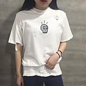 Tiro real instituto de Corea del viento suelta agujero harajuku impresión de cobertura de manga corta camisa de camiseta femenina