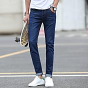 新しいジーンズ男性ストレートスリムフィート大きいサイズの韓国の野生潮パンツ春2017