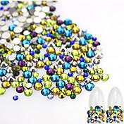 About 500pcs/bag Decoración de uñas Las perlas de diamantes de imitación maquillaje cosmético Dise?o de manicura