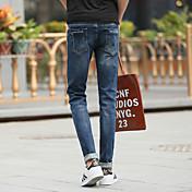2017春と夏の新しいスリム薄い弾性フィート思春期の男性でした' sのジーンズの男性' sのカジュアル潮