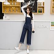 Signo 2017 primavera nueva versión coreana de los pantalones de pierna ancha con bolsillos grandes flecos de mezclilla con flecos nueve