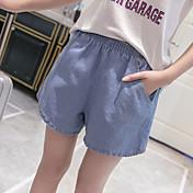 2017 versión coreana del verano de la cintura elástica mm XL grasa, más fertilizantes suelta los pantalones vaqueros de pierna ancha