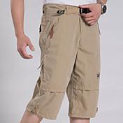 Pánské Jednoduchý Mikroelastické Kraťasy Kalhoty Volné Mid Rise Jednobarevné