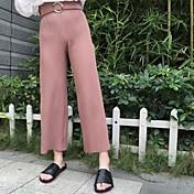 サイン潮のドングク秋のファッションソリッドカラープリーツワイドレッグパンツパンティーストッキングネット