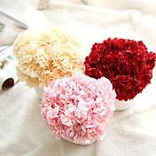 1 Rama Poliéster Plástico Clavel Flor de Mesa Flores Artificiales 8*8