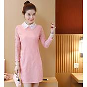 記号2017春新韓国スリム大型人形襟レースは薄いパッケージのヒップドレスだった