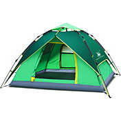 3-4人 テント ダブル 1つのルーム キャンプテント 携帯式-キャンピング 旅行