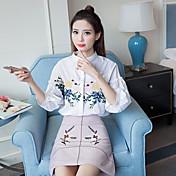 Signo 2017 verano nuevo Corea camisa de manga corta bordados 3d tecnología estereoscópica estudiante de flores silvestres camisa