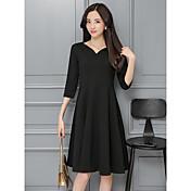 2017年春に新しい女性' sのドレスは、大きなエレガントなリトルブラックドレスのヘップバーンの黒襟のドレス年次総会に置きます