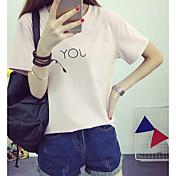 Signo 2017 nueva versión coreana de cultivar letras salvajes camiseta camiseta de manga corta de verano bottoming compasiva simplicidad
