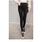 Mujer Un Color Tiro Medio Alta elasticidad Ajustado Pantalones,Lápices Color sólido Sexy Color puro
