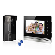 sistema de casa con alambre 7 de vídeo sistema de entrada de teléfono de la puerta de intercomunicación 1 monitor de la cámara de acceso 1