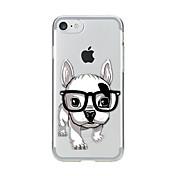 用途 iPhone X iPhone 8 ケース カバー クリア パターン バックカバー ケース 犬 ソフト TPU のために Apple iPhone X iPhone 8 Plus iPhone 8 iPhone 7プラス iPhone 7 iPhone 6s Plus