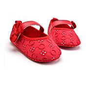 Bez podpatku-Látka-První botičky-Dětské-Bílá Černá Červená Růžová-Svatba Outdoor Šaty Běžné Party-Plochá podrážka