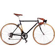 クルーザーバイク サイクリング 14スピード 26 inch/700CC シマノSY 20A Vブレーキ ノーダンパー スチールフレーム ノーダンパー アンチスリップ アルミニウム合金 スチール