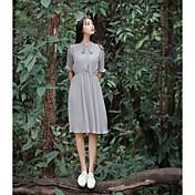 Signo de no menos de 67 yuanes 2017 primavera nuevo viento de la universidad viento teatral vestido