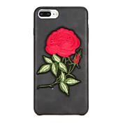 のために DIY ケース バックカバー ケース フラワー ハード PUレザー のために Apple iPhone 7プラス iPhone 7 iPhone 6s Plus iPhone 6 Plus iPhone 6s iphone 6