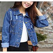2017 resorte y otoño nuevo coreano hembra marea agujero chaqueta de mezclilla chaqueta abrigo moda salvaje spot