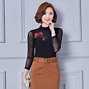 長袖レースシャツボトミングシャツ2017春新韓国ワイルドスリムシャツガーゼシャツ