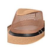 Hombre Verano Casual Paja Sombrero para el sol,Sólido