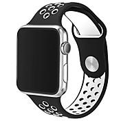 ダブルカラーのリンゴウォッチスポーツ通気性のシリコンストラップ42mmのブレスレットのみの時計は含まれていません