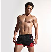 メンズ ストリートファッション 活発的 セクシー シンプル ミッドライズ ルーズ 非弾性 スウェットパンツ ショーツ パンツ 混色 ファッション パッチワーク クラシック カラーブロック