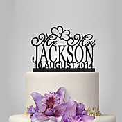 Decoración de Pasteles Personalizado Acrílico Matrimonio Aniversario Despedida de Soltera Tema Jardín Tema Clásico OPP